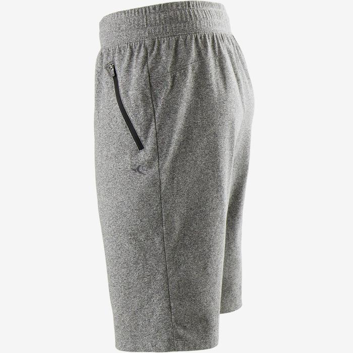 Pantalón Corto Gimnasia y Pilates Domyos 520 Slim Hombre Gris