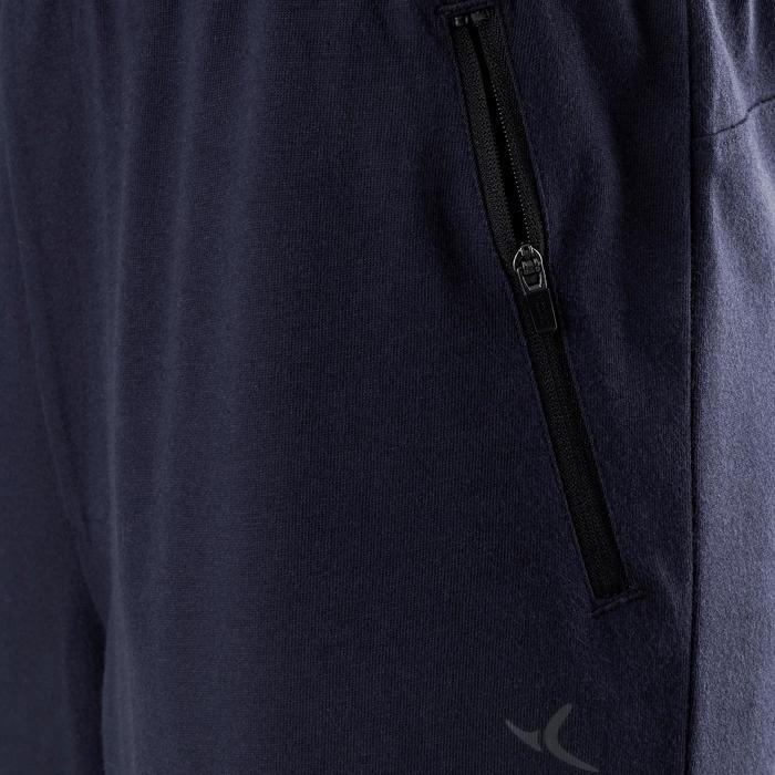 Sporthose kurz 520 Slim Gym & Pilates Herren marineblau
