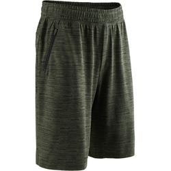 標準剪裁皮拉提斯與溫和健身及膝式短褲520 - 卡其色