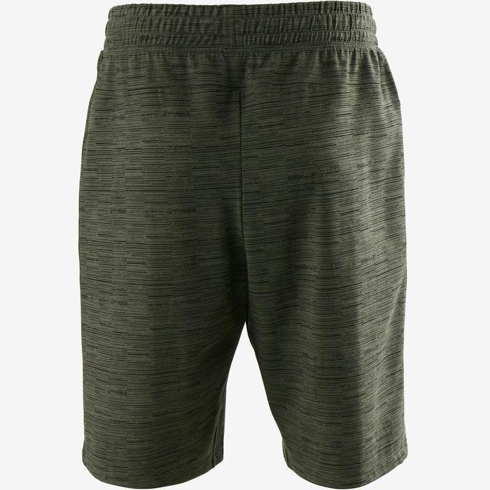 Short 520 regular largo sobre rodillas Pilates y Gimnasia suave hombre caqui AOP