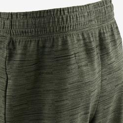 520 Regular-Fit Knee-Length Pilates & Gentle Gym Shorts - Khaki