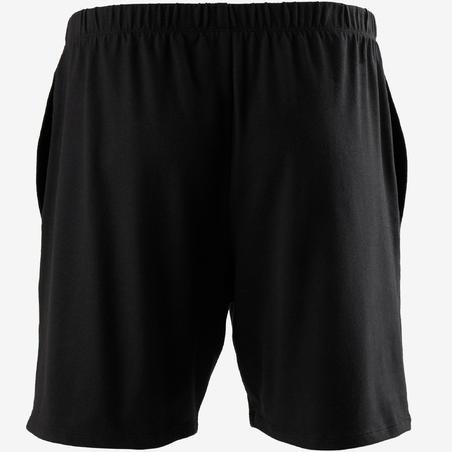 Short 100 corte regular. Pilates y gimnasia suave. Hombre. Negro.