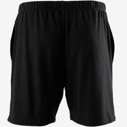 Korte gymshort voor heren 100 zwart