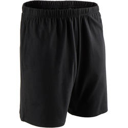 男款標準剪裁溫和健身與皮拉提斯短褲100 - 黑色