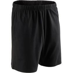 Korte short voor pilates en lichte gym heren 100 katoen zwart