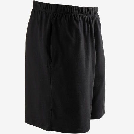 Men's Short Sports Shorts 100 - Black