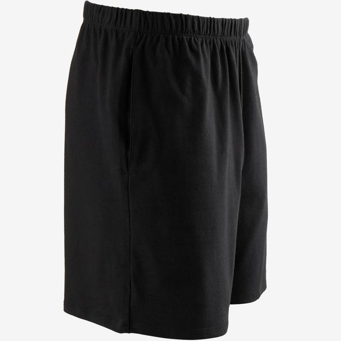 Men's Regular-Fit Short Pilates & Gentle Gym Sport Shorts 100 - Black