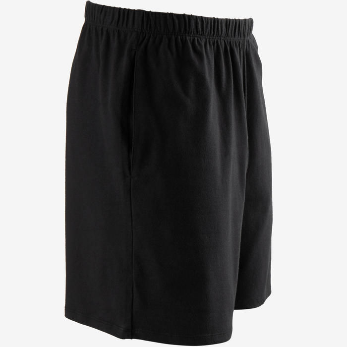 Short Sport Pilates Gym douce homme 100 Court Regular Noir