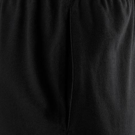 100 Celana Pendek Pilates & Gentle Gym Regular-Fit - Hitam