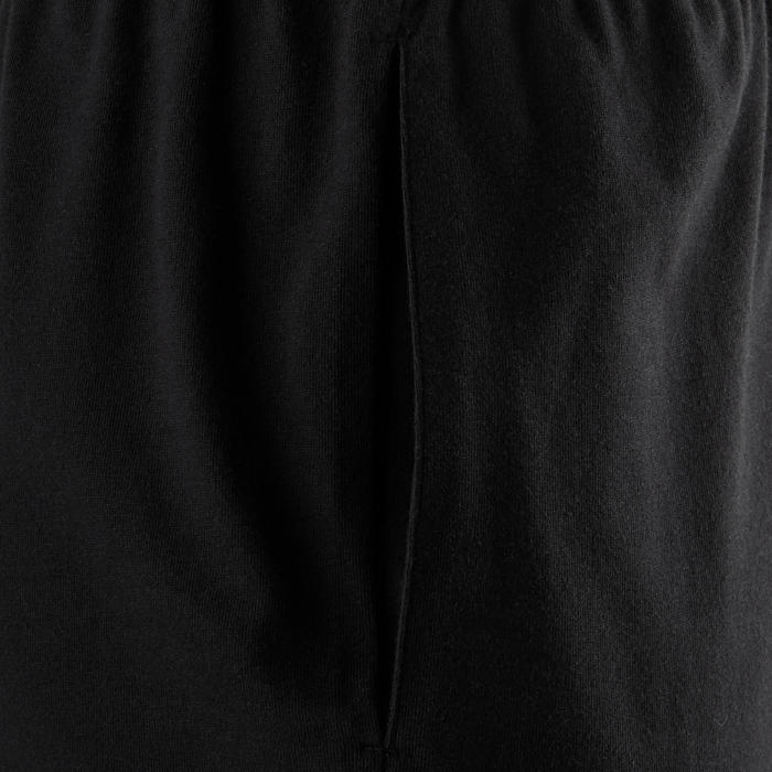Sporthose kurz 100 Regular Gym & Pilates Herren schwarz