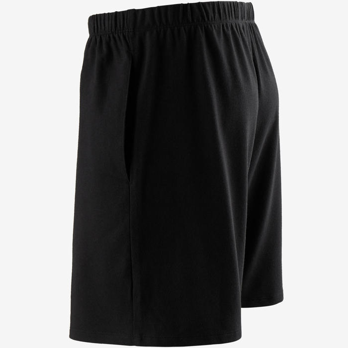 Short 100 regular Pilates Gym douce noir homme