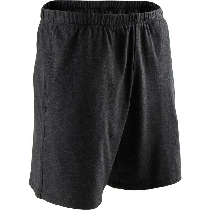 Short 100 regular Pilates Gym douce homme gris foncé