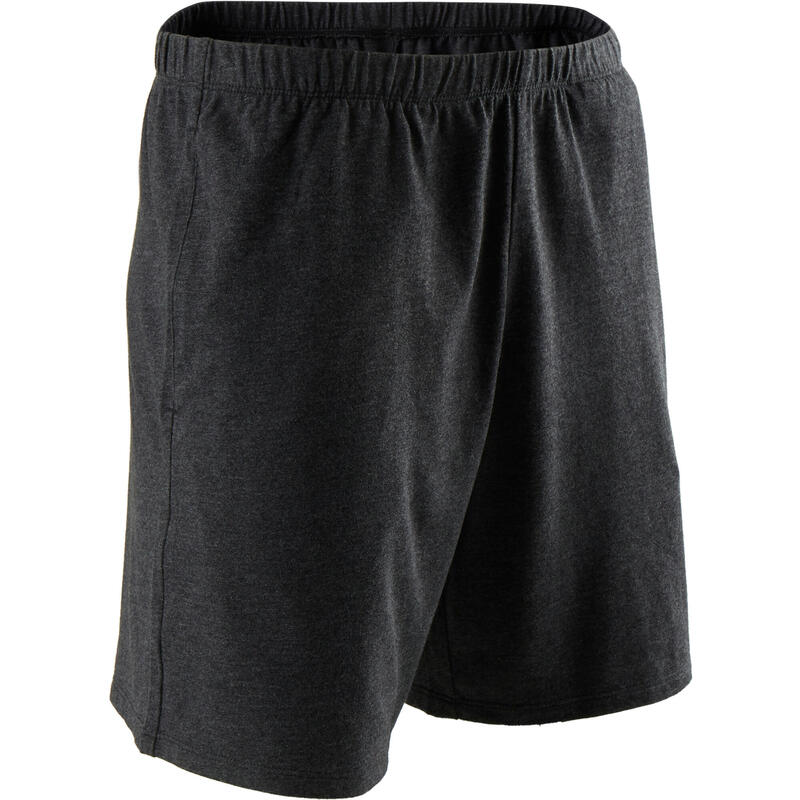 Pantaloncini uomo fitness 100 grigio scuro