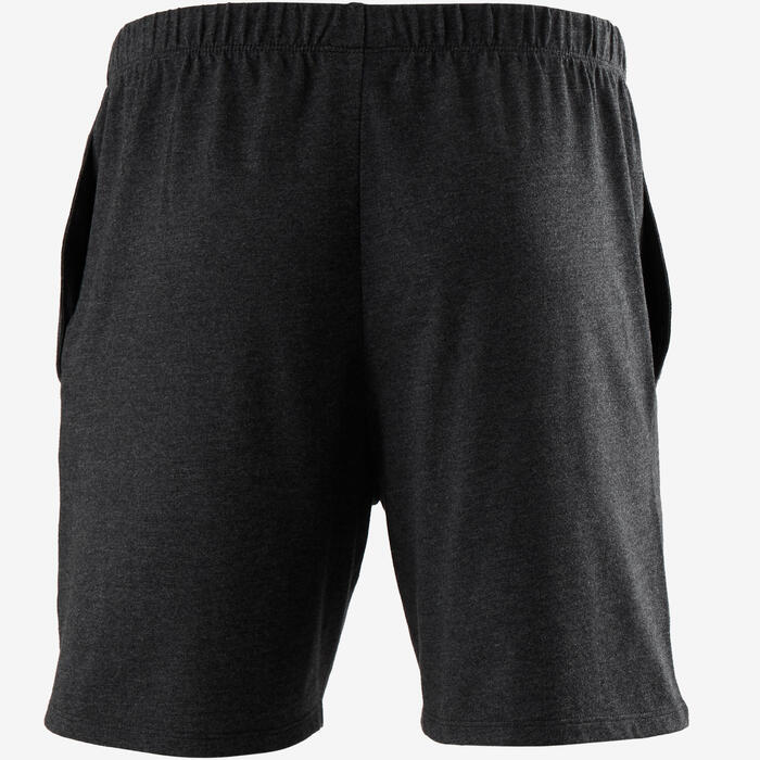 Short 100 regular Pilates Gym douce homme gris foncé