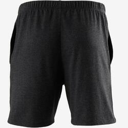 Short voor pilates en lichte gym heren 100 kort regular fit donkergrijs