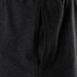 Men's Regular-Fit Short Pilates & Gentle Gym Sport Shorts 100 - Dark Grey