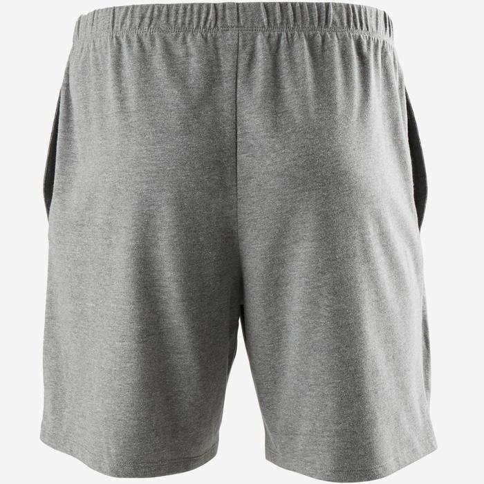 Regular gymshort voor heren 100 gemêleerd grijs