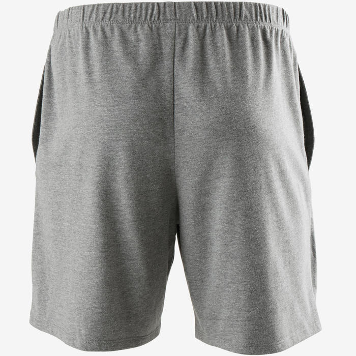 Short de Sport 100 Court Homme Gris Chiné