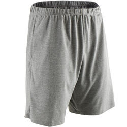 Short Coton Fitness Court Gris