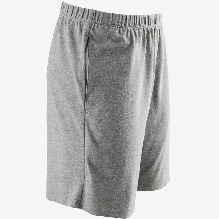 100 Regular-Fit Pilates & Gentle Gym Shorts - Mottled Light Grey
