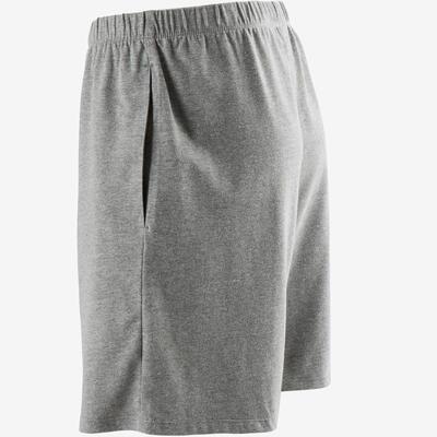 Short 100 regular Pilates Gym douce homme gris clair chiné