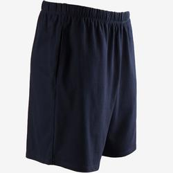 Short Sport Pilates Gym Douce homme 100 Court Regular Bleu Foncé