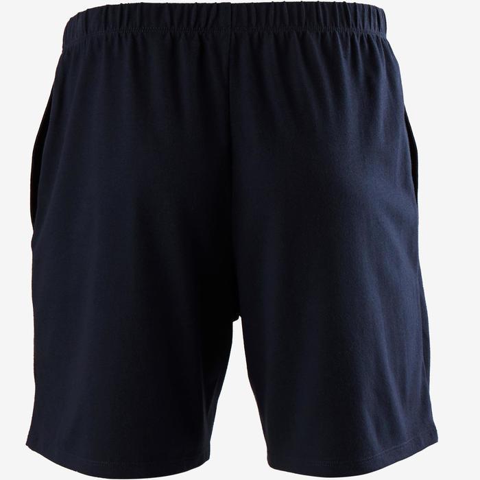 Short de sport homme court en coton bleu foncé