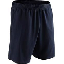 Pantalón Corto Gimnasia y Pilates Domyos 100 Regular Azul Asfalto