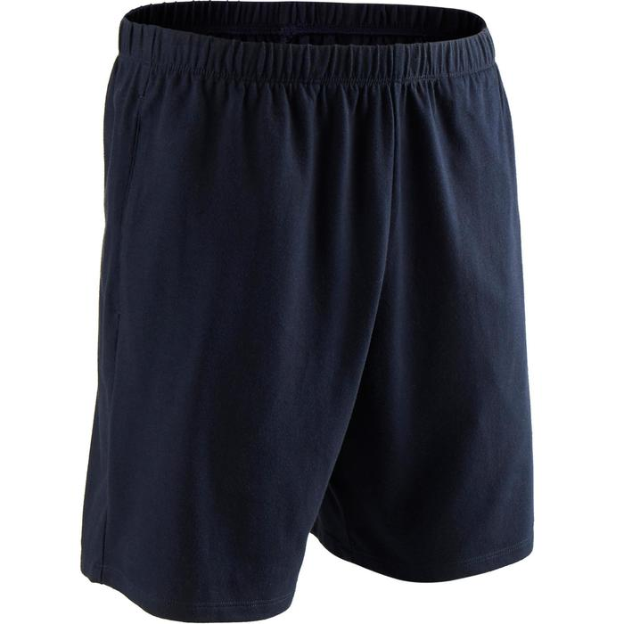 Short 100 regular Pilates Gym douce homme bleu marine