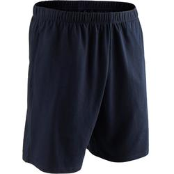 Short 100 regular fit pilates en lichte gym heren marineblauw