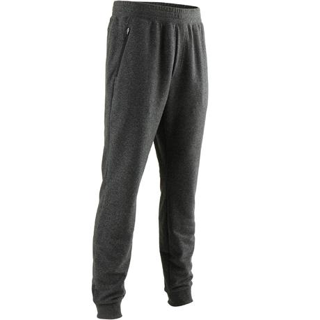 0d9b29864684 Pantaloni slim uomo gym pilates 500 grigio scuro | Domyos by Decathlon