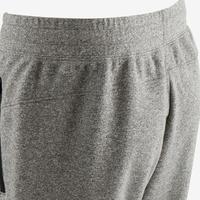 500 Slim-Fit Gentle Gym & Pilates Zip-Up Bottoms - Light Grey