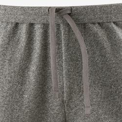 修身剪裁溫和健身與皮拉提斯拉鍊長褲500 - 淺灰色