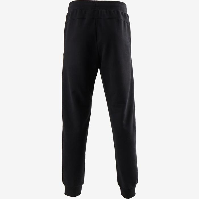 Pantalon 500 regular zip Pilates Gym douce noir homme