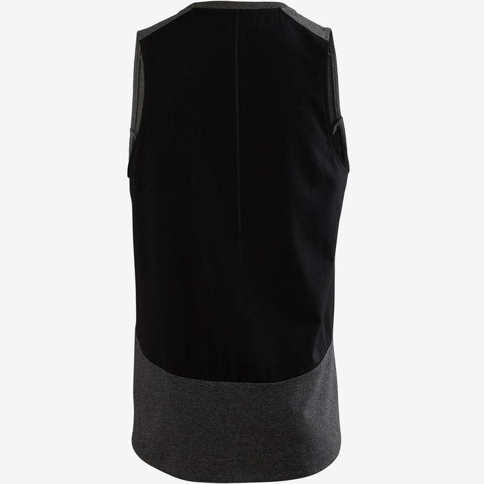 Camiseta sin mangas 560 Pilates y Gimnasia suave hombre gris oscuro