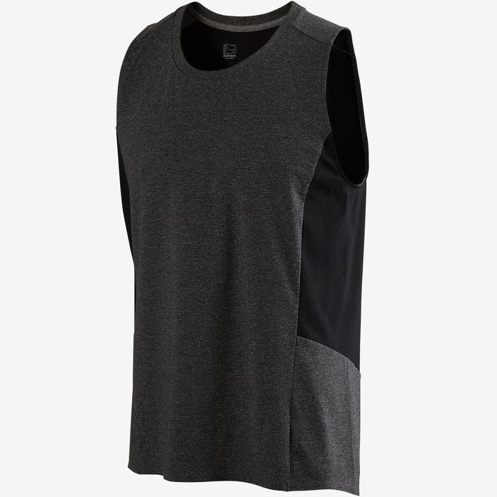 Camiseta Sin Mangas Tirantes Gimnasia Pilates Domyos 560 Hombre Gris Oscuro