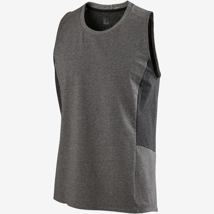 皮拉提斯與溫和健身背心560 - 淺灰色