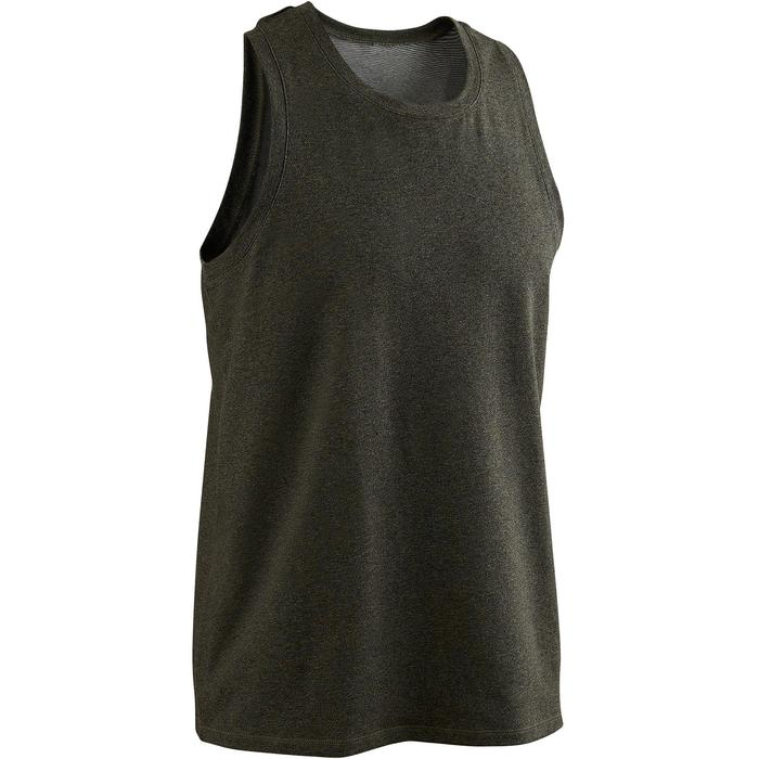 Tank-Shirt 500 Gym & Pilates Herren khaki