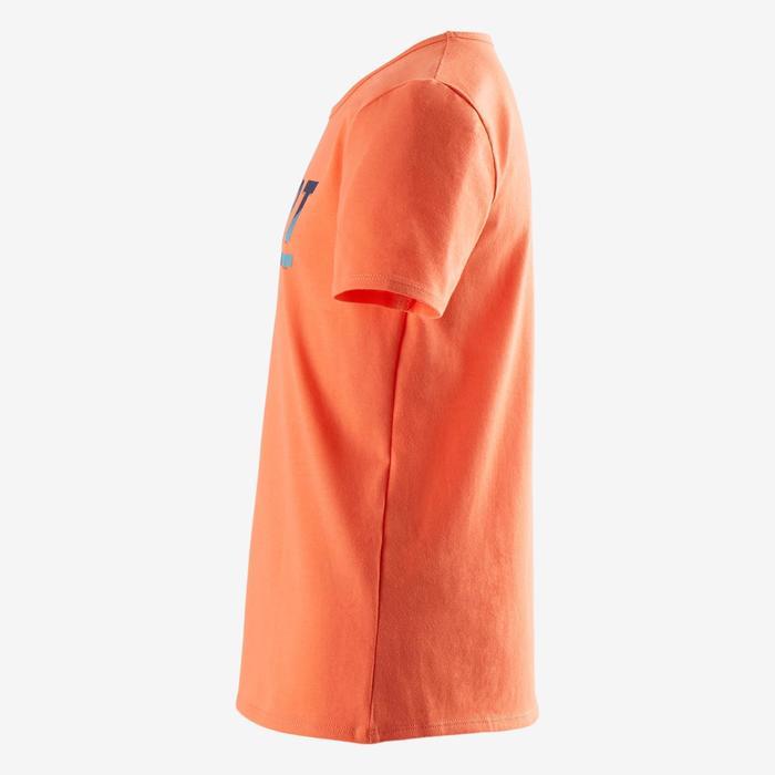 100 Boys' Short-Sleeved Gym T-Shirt - Orange Print