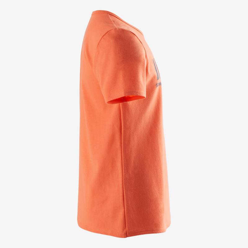 T-shirt manches courtes 100 garçon GYM ENFANT orange imprimé