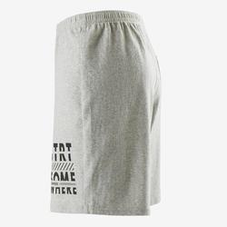 Short recyclé 100 garçon GYM ENFANT gris chiné clair imprimé
