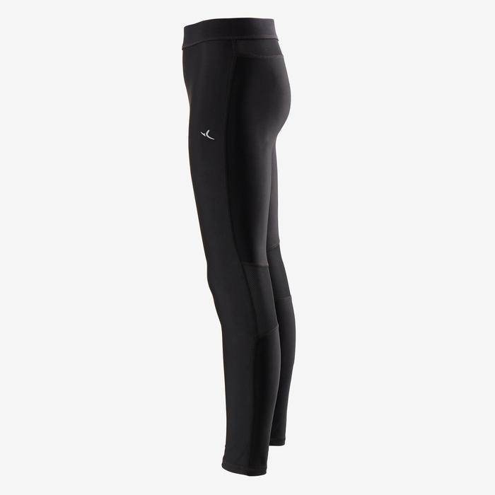 Ademende legging voor gym jongens S500 zwart
