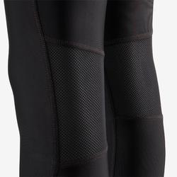 Boys' Breathable Gym Leggings S500 - Black