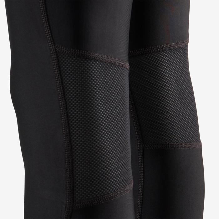 Mallas Leggings Deportivos S900 TB Domyos Gimnasia Niño Transpirable Negro