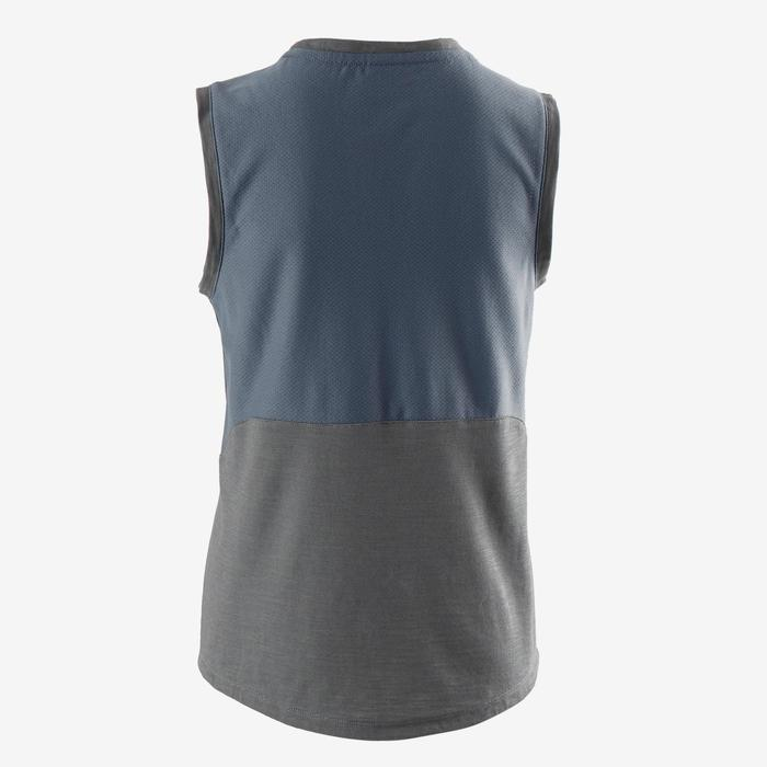 500 Boys' Gym Breathable Cotton Tank Top - Mottled Grey