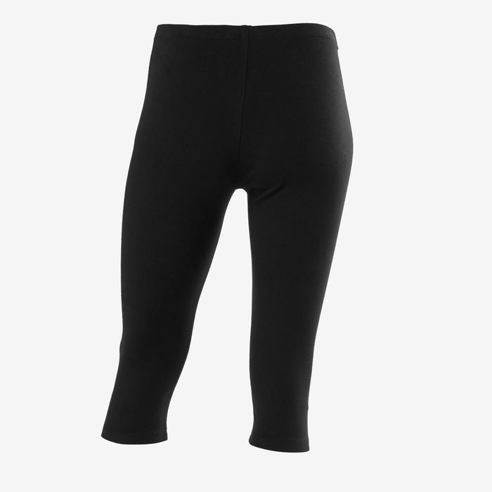 Kuitbroek voor gym meisjes 100 zwart/opdruk