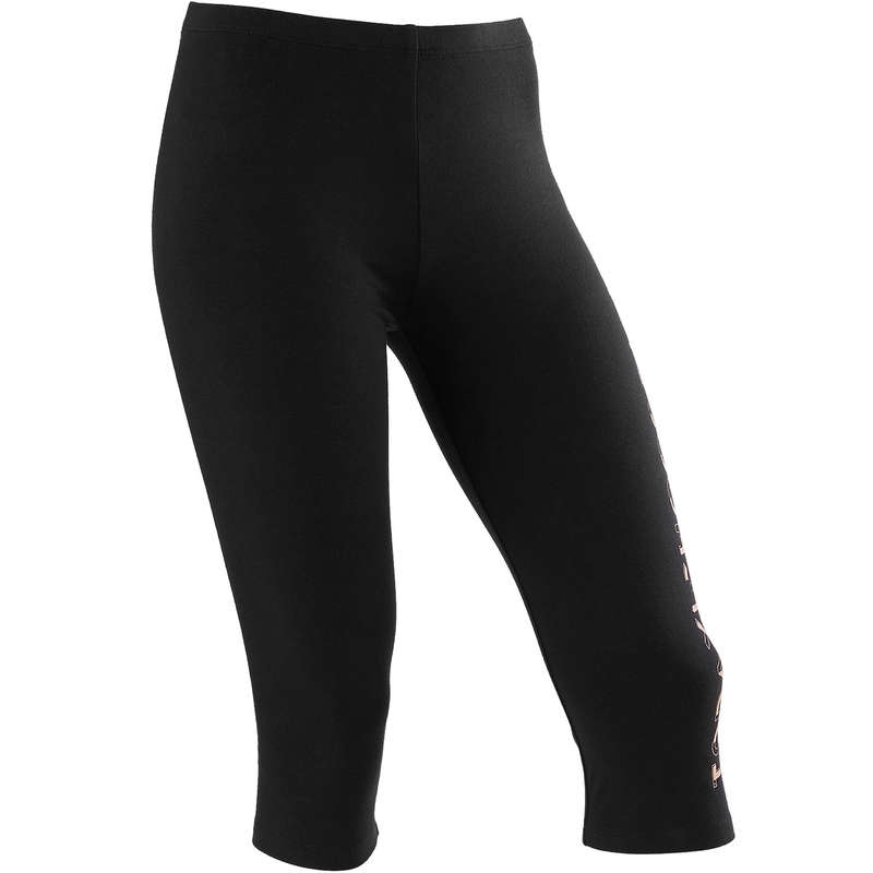 GIRL EDUCATIONAL GYM APPAREL Fitness and Gym - Girls' Gym Cropped Bottoms 100 DOMYOS - Gym Activewear