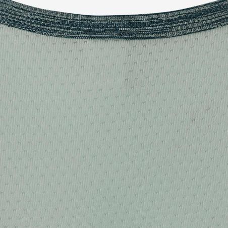 S500 Girls' Gym Breathable Synthetic Tank Top - Biru