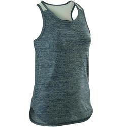 Camiseta sin mangas sintética transpirable S500 niña GIMNASIA JÚNIOR azul