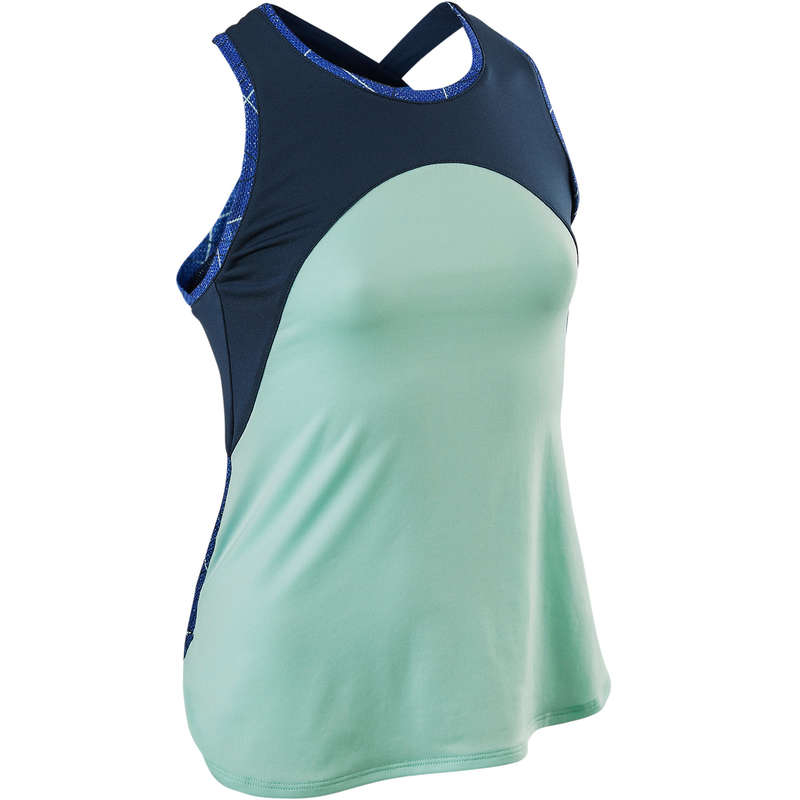GIRL EDUCATIONAL GYM APPAREL Fitness and Gym - S900 Girls' Gym Tank Top Blue DOMYOS - Gym Activewear